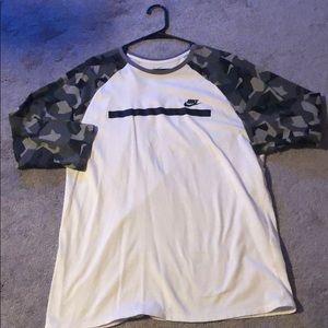 Nike Shirts - Mens Nike Camo Baseball Shirt
